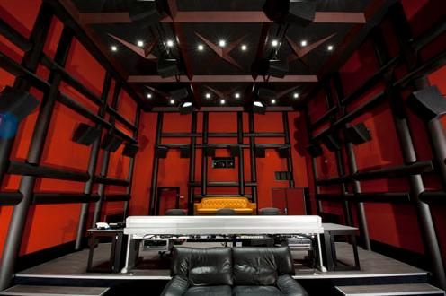 Микшерная комната Dolby Atmos в Париже